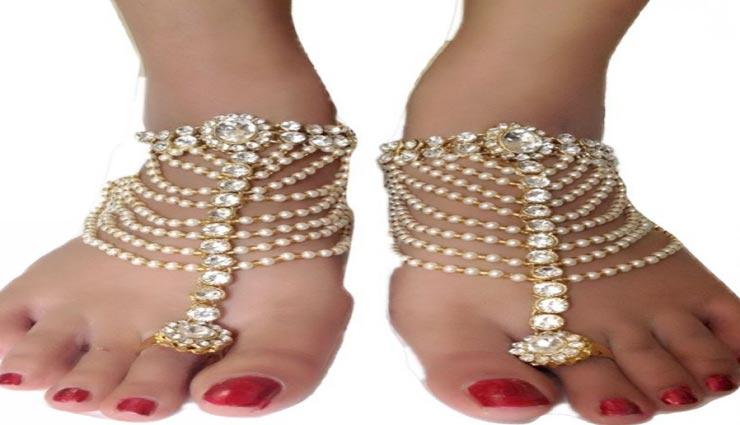 fashion tips,fashion tips in hindi,trendy anklets,anklets for wedding look ,फैशन टिप्स, फैशन टिप्स हिंदी में, ट्रेंडी पायल, दुल्हन के लिए ट्रेंडी पायल, पायल का फैशन