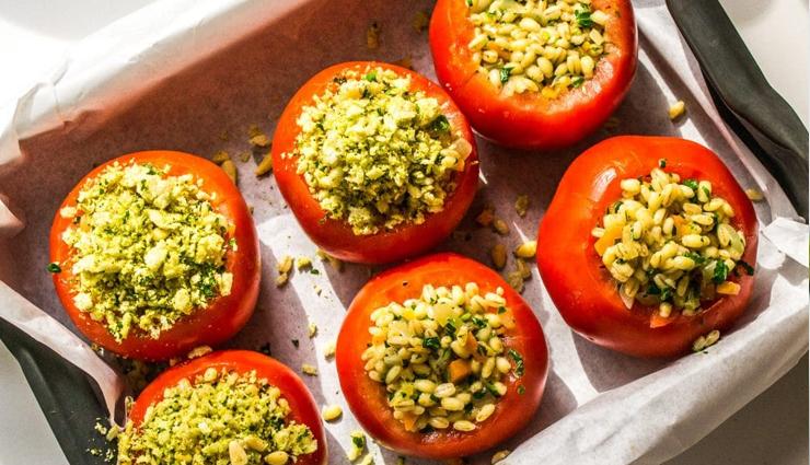 Recipe- Delicious Barley Stuffed Tomatoes