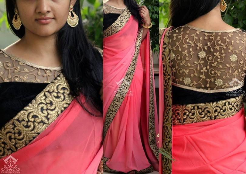 transparent blouse designs,trending blouse designs,latest blouse designs,back designs for blouse,fashion tips