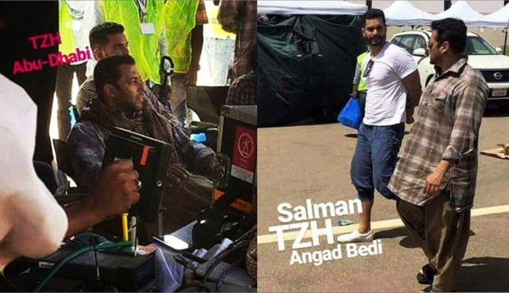 Salman Khan,tiger zinda hai in abu dhabi,salman new look,tiger zinda hai movie