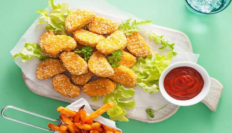 स्नैक्स में लें कुरकुरे और टेस्टी 'वेजिटेरियन नगेट्स' का स्वाद #Recipe