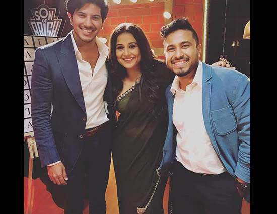 Video- Vidya Balan Couldn't Control Her Laugh on Dulquer Salmaan and Abish Mathew