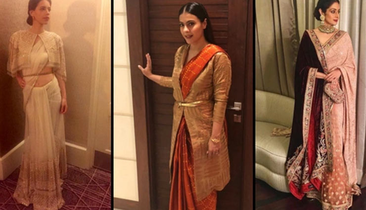 5 Ways To Style Jackets With Sari During Winters