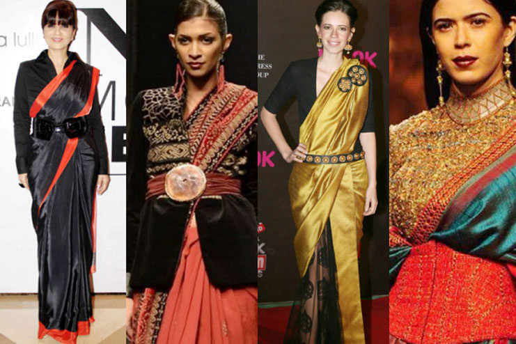 styling jacket with sari,sari wearing tips,winter fashion tips,latest fashion trends,styling tips
