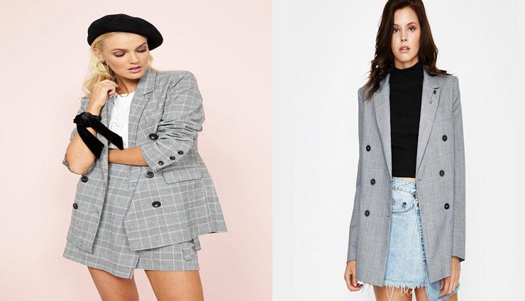 fashion tips,plaid blazer,women fashion,just the blazer,with denim skirt,with a skirt and shirt,fashion trends ,प्लेड ब्लेजर, फैशन टिप्स, फैशन ट्रेंड्स, लड़कियों का फैशन