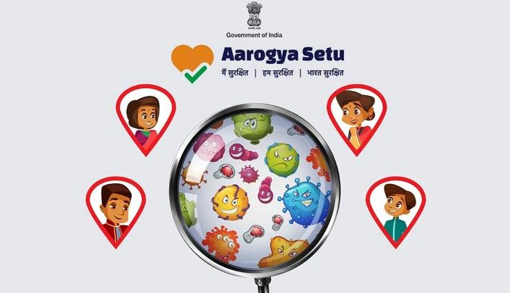 कोरोना से लड़ाई में सरकार द्वारा लॉन्च की गई 'Aarogya Setu' मोबाइल ऐप