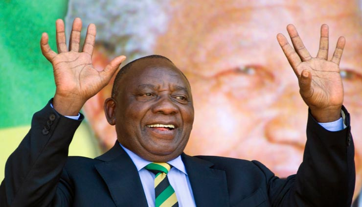 दक्षिण अफ्रीका के राष्ट्रपति के रूप में फिर से चुने गए सिरिल रामाफोसा