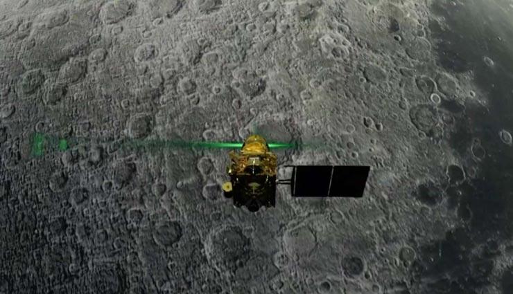 चाँद की सतह पर सुरक्षित दिखाई दिया लैंडर 'विक्रम', ऑर्बिटर की मदद से साफ़ हुई तस्वीर