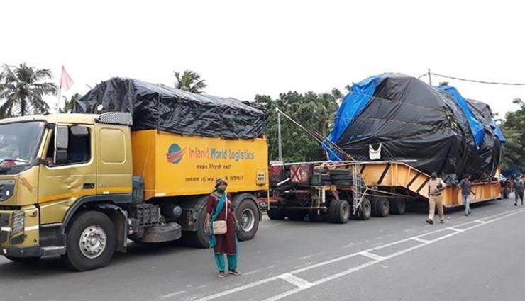 huge tool,truck,10 month,voyage,space exploration,center ,பிரமாண்ட கருவி, டிரக், 10 மாதம், பயணம், விண்வெளி ஆய்வு, மையம்