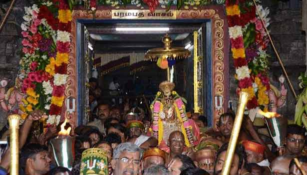 ஸ்ரீரங்கம் கோயிலில் சொர்க்கவாசல் திறப்பின் போது பக்தர்களுக்கு அனுமதி இல்லை