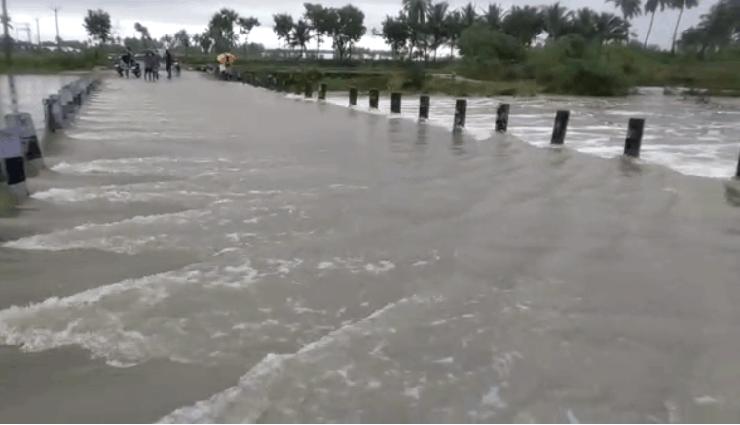ground bridge,broken,villupuram,rain flood,protection ,தரைப்பாலம், உடைந்தது, விழுப்புரம், மழை வெள்ளம், பாதுகாப்பு