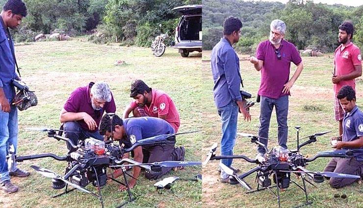 drone,disinfectant,actor ajith,aswath narayan,karnataka ,ட்ரோன்,கிருமிநாசினி,நடிகர் அஜித்,அஸ்வத் நாராயண்,கர்நாடகா