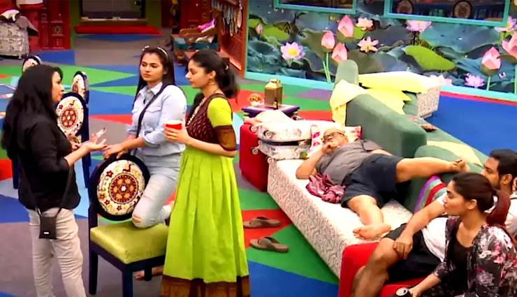 big boss show,rekha,nomination,sanamshetty,shivani ,பிக்பாஸ் நிகழ்ச்சி,ரேகா,நாமினேஷன்,சனம்ஷெட்டி,ஷிவானி
